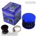 12 mm BLUE MINI AIR INTAKE CRANKCASE BREATHER FILTER VALVE COVER VENT