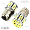 2 Pcs 50 SMD 1206 12V 1156 BA15S 1073 1093 Car Tail Signal Light LE007-50WH