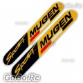 2 Pcs Mugen Sport Sticker Decal JDM Racing 30mmx150mm - CSM003